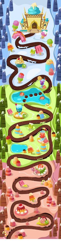 bigmap Game Environment, Environment Concept Art, World Map Game, Map Sketch, Map Games, Game 2d, Candy Games, Craft Station, Rainbow Candy