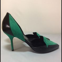 Spotted while shopping on Poshmark: Pierre Hardy Black/Green Suede Heels! #poshmark #fashion #shopping #style #Pierre Hardy #Shoes
