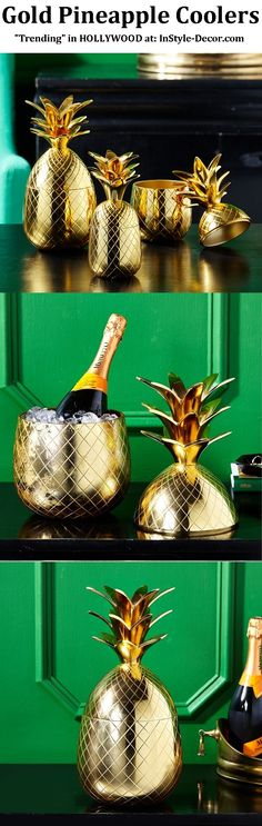 """Gold Pineapple"" ""Gold Pineapples"" ""Gold Pineapple Ice Bucket"" Designs By www.InStyle-Decor.com HOLLYWOOD Over 5,000 Inspirations Now Online, Luxury Furniture, Mirrors, Lighting, Chandeliers, Lamps, Decorative Accessories & Gifts. Professional Interior Design Solutions For Interior Architects, Interior Specifiers, Interior Designers, Interior Decorators, Hospitality, Commercial, Maritime & Residential. Beverly Hills New York London Barcelona Over 10 Years Worldwide Shipping Experience"