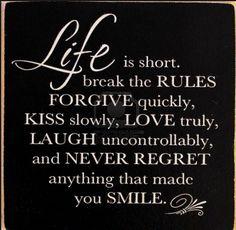 No regrets.  #life