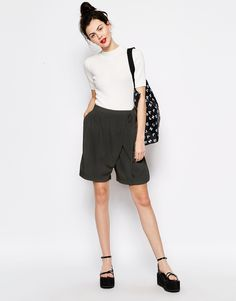 Monki Wrap Smart Tailored Short
