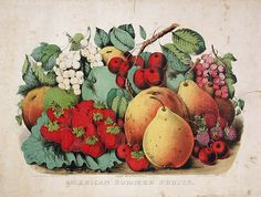 American Summer Fruit by James Merritt Ives and Nathaniel Currier