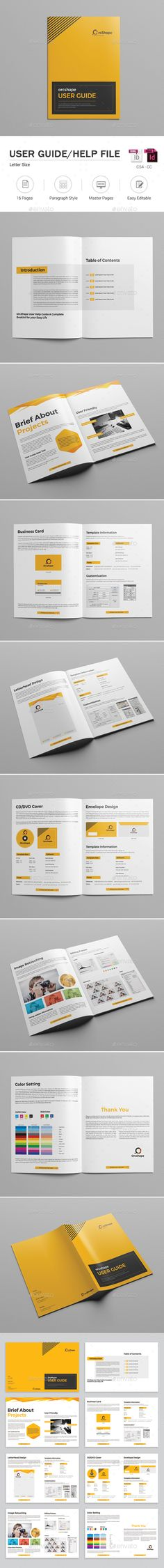 User Guide Brochure Template InDesign INDD