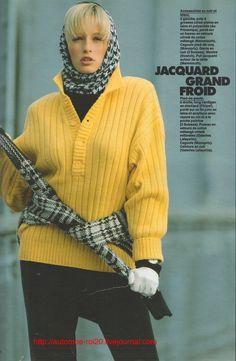 "Estelle Lefébure by Gilles Bensimon,  French Elle Sept 1985 ""Mode Juniors"" Fashion editor: Douce Le Tellier"