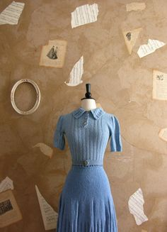 Vintage 1930s Blue and Me Forever Dress Set by VeryVintageStore