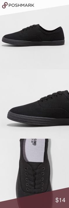 "Mossimo Black Sneaker NWT lace-up  7 BRAND New Mossimo Supply co lace-up Sneaker.. size 7  Approx 10 1/4"" is the length These are NWT and are a great everyday sneaker, black which looks great with everything! Mossimo Supply Co. Shoes"