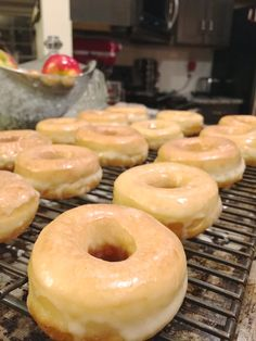 """Glazed Yeast Doughnuts with a special ingredient: potato! Light and airy, these doughnuts or """"Spudnuts"""" are the perfect treat for any special event or just a weekend with the family."""