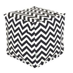 Chevron Cube in Black