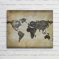 WORLD MAP Wall ART-Canvas or Graphic Print