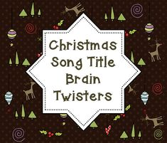 This FREE download is great for students who enjoy brain teasers or need a little vocabulary enrichment this holiday season! Print off this freebie, give your students a couple hints, and see who can name the most holiday songs based on the clues given. It's a great game that's really fun!