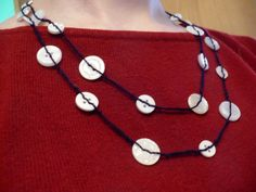 Craft Project:  Button Necklace