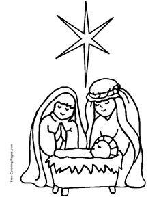 christmas nativity coloring page | Quiltables | Pinterest ...