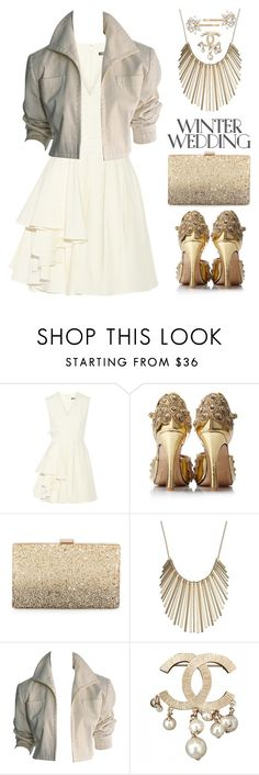 """""""Winter Wedding"""" by starspy ❤ liked on Polyvore featuring Alexander McQueen, Neiman Marcus, Jennifer Lopez, YSL RIVE GAUCHE, Chanel and Trina Turk"""
