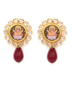 Handmade Traditional Painting Earring at www.silvercentrre.com Product Code: SCW57