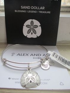 Authentic Alex and Ani Sand Dollar Charm Russian Silver Bracelet new with box Mens Silver Necklace, Silver Bracelets, Sterling Silver Jewelry, Silver Ring, Silver Jewellery, 925 Silver, Alex And Ani Jewelry, Alex And Ani Bracelets, Pandora
