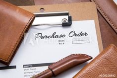 Purchase Order with leather stationery