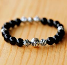 299b87c4977 Classical Chrome Hearts 8 Ch Ball Black Bracelet On Sale On Sale. Male  JewelryChrome ...