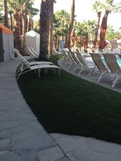 Photo: Another great job done at the Hyatt Regency in Indian Wells!   There's a trend here. More and more resorts are turning to SYNLawn around their pool areas for beautiful, low maintenance and sustainable solutions. Could your pool area (residential or commercial) use some SYNLawn?