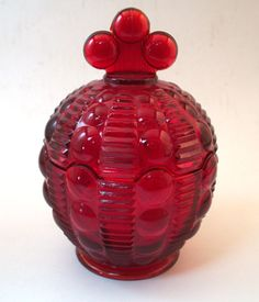 Image detail for -... Tiara / Indiana Glass Ruby Red Amberina Covered Candy Dish | eBay
