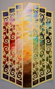 """Best Use of Color: """"The Gate"""" by Donna Schipper Moyer. 2013 Utah Valley Quilt Guild show."""