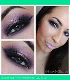 Beautiful Purple smokey eye using Mac pink venus(center), Mac Creme de Violet, Mac stay sultry (dark purple)