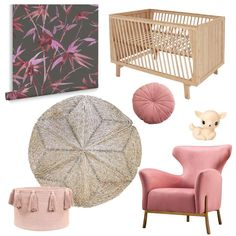 A little bit of rose goes a long way, and a lot of natural, eco-friendly elements go even further! Cot Sets, Bamboo Texture, Seagrass Rug, Rose Got, Rose Nursery, Cot Bumper, Play Table, Tassel Garland, Little Monkeys