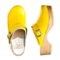 Girls' patent leather Sven® clogs via JCrew...  Do these come in my size???