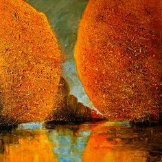 "Saatchi Online Artist Justyna Kopania; Painting, ""River"""