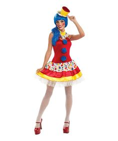 Another great find on #zulily! Red & Yellow Clown Costume Set - Women by Rubie's #zulilyfinds