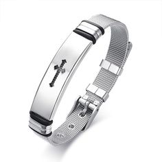 1d365b436 US$ 2.50 Wholesale Mens Stainless Steel Cross Bracelets Cross Jewelry,  Cross Bracelets, Bracelet