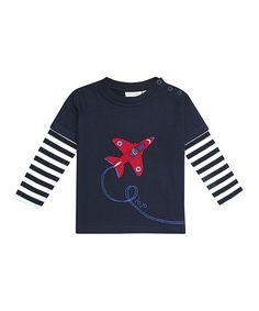 Look at this #zulilyfind! Navy Air Show Layered Tee - Infant, Toddler & Boys #zulilyfinds