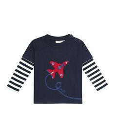 Loving this Navy Air Show Layered Tee - Infant, Toddler & Boys on #zulily! #zulilyfinds