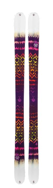 Ladies K2 Empress twin tip skis for 2014! A durable, lightweight twin tip park ski that comes at a great value for girls who are looking to take their first steps in the park. Did we mention how #rad they look. #ski #women