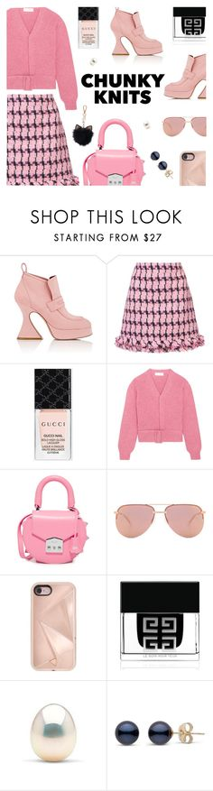 """""""Get Cozy: Chunky Knits"""" by annbaker ❤ liked on Polyvore featuring Sies Marjan, Boutique Moschino, Gucci, Victoria Beckham, SALAR, Quay, Rebecca Minkoff, Givenchy, LC Lauren Conrad and chunkyknits"""