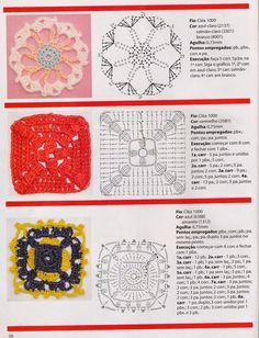 Revistas de crochet y tejidos gratis: Flores en crochet paso a paso