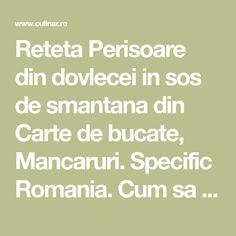 Reteta Perisoare din dovlecei in sos de smantana din Carte de bucate, Mancaruri. Specific Romania. Cum sa faci Perisoare din dovlecei in sos de smantana