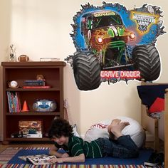 Monster Truck Wall Decal   Kids Bedroom Wall Decor | Boys Bedroom Redo |  Pinterest