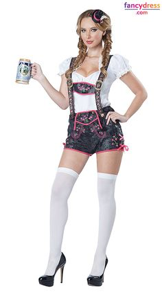 Looking for something a little more flirty for Oktoberfest? Or just want something a little cooler if you're celebrating somewhere hot. This Flirty Lederhosen is a great choice! **We ship worldwide** http://www.fancydress.com/costumes/Flirty-Lederhosen/0~5052671