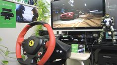 [19] Xbox One Forza 6  Thrustmaster Ferrari 458 Spider Racing Wheel Game...