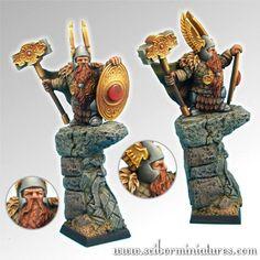 Dwarf General #2 - Fantasy Miniatures 28mm - Scibor Monstorous Miniatures (x1…