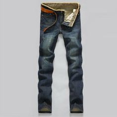 $28.98 / Mens Blue Faded Jeans Slim Straight Jeans Waterstreak Jeans Pants via martEnvy. Click on the image to see more! / FREE SHIPPING