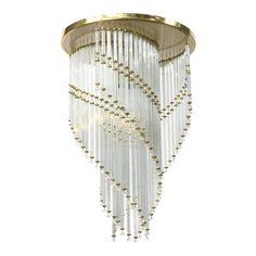 Crystal Spiral fixture, new wiring, made in Czech Republic. Pendant Chandelier, Chandelier Lighting, Chandeliers, Chandelier Bedroom, Crystal Light Fixture, Light Fixtures, Ceiling Fixtures, Ceiling Lights, Antique Lighting