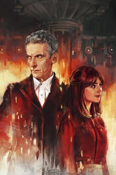 I hope you guys all enjoyed the new episode! Here's the full painting I did to celebrate the season premiere, officially commissioned by the Doctor Who: Earth Conquest documentary! I had the amazing opportunity to present this artwork to Peter Capaldi, Jenna Coleman, and Steven Moffat themselves, so this piece really means a lot to me. (Full story on that meeting here!)