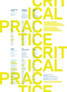 Winter 2012 lecture series poster - Atelier Pastille Rose #nicegraphicdesign #graphicdesign