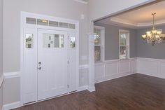 Entrance and formal dining room in the Clark Craftsman KS