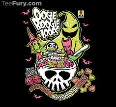 Oogie Boogie Loops by NikHolmes is available RIGHT NOW on www.teefury.com!  My Shirt is purple though