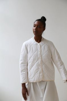 Rennes is a Philadelphia based design studio started by Julia Okun in Quilted Clothes, Padded Shorts, Textiles, Women Wear, My Style, How To Wear, Fashion Design, Quilted Jacket Outfit, Clothespins