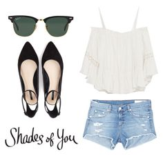 """Shades of You: Sunglass Hut Contest Entry"" by sassywrong ❤ liked on Polyvore featuring Ray-Ban, Zara, rag & bone/JEAN, Forever 21 and shadesofyou"