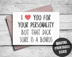 Naughty Valentines Card  Valentines Card For Him  Naughty