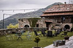 Wedding venue in the Pyrenees, Outdoor spring wedding in Spain, wedding decoration, verbena lights Best Wedding Destinations, Best Wedding Venues, Destination Wedding Planner, Got Married, Getting Married, Spring Wedding, Wedding Day, Going To Rain, Verbena